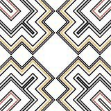 Seamless pattern in black, red and orange Royalty Free Stock Images