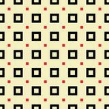 Seamless pattern of black and red squares on a light background. Stock Images