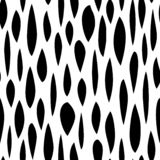 Seamless pattern with black shabby strokes on white background. Ethnic background. vector illustration