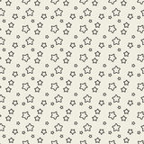 Seamless pattern with black stars. Stock Photos