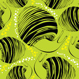Seamless pattern with black striped snails Royalty Free Stock Photos