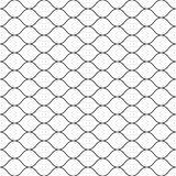 Seamless pattern, black thin wavy lines on white. Vector seamless pattern, black thin wavy lines on white backdrop. Illustration of mesh, fishnet, fish scales Royalty Free Stock Image