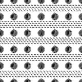 Seamless pattern with black watermelons on the white background. Vector Royalty Free Stock Photos