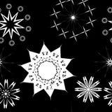 Seamless pattern black and white. Illustration Stock Photo