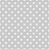 Seamless pattern, black and white abstract geometric concentric octagons Royalty Free Stock Image