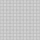 Seamless pattern, black and white abstract geometric floral Stock Photo