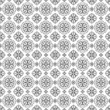 Seamless pattern, black and white abstract geometric old eastern Royalty Free Stock Photo