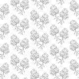 Seamless pattern black and white camomile flowers Royalty Free Stock Photography