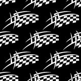 Seamless pattern of a black and white checkered Stock Image