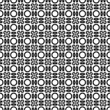 Seamless pattern with black and white circles Royalty Free Stock Photos
