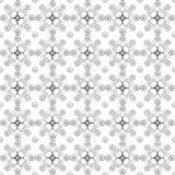 Seamless pattern of black and white colors from geometric figures drawn by contour lines on white background.  Stock Images