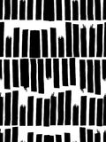 Seamless pattern in black and white colors. Vertical stripes written by pen and ink. Hand drawn. Vector illustration Royalty Free Stock Photos