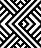 Seamless pattern with black and white diagonal stripes. With optical illusion effect Stock Images