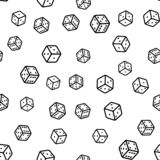 Seamless pattern with black and white dice stock illustration