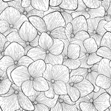 Seamless pattern black and white flowers Royalty Free Stock Photography