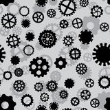 Seamless pattern with black and gray gears. Seamless pattern with black and white gears on a gray background Royalty Free Stock Photography