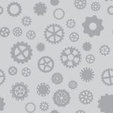 Seamless pattern with black and gray gears. Seamless pattern with black and white gears on a gray background Royalty Free Stock Images