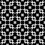 Seamless pattern, black & white geometric ornament Stock Photography