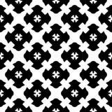Seamless Pattern Black White Gothic Texture Stock Photo