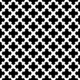 Seamless pattern, black & white gothic texture Stock Photos