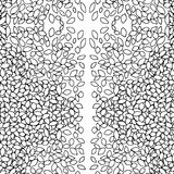 Pattern black and white leaves Royalty Free Stock Image