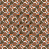 Seamless pattern black, white and multicolor Stock Photos
