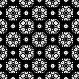 Seamless pattern, black and white ornamental texture Royalty Free Stock Photos