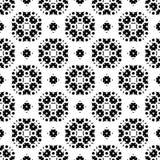Seamless pattern, black and white ornamental texture Stock Photo