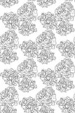 Seamless pattern black and white peonies flowers Royalty Free Stock Image