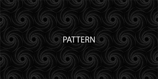 Seamless Pattern. Black - white rhombic spiral for your design stock illustration