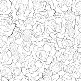Seamless pattern of black and white roses vector Royalty Free Stock Images