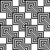 Seamless pattern of black and white squares. Stock Photos
