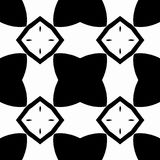Seamless pattern with black and white in vector, a star and a square Royalty Free Stock Photo