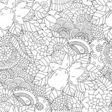 Seamless pattern black and white walnut Royalty Free Stock Photography