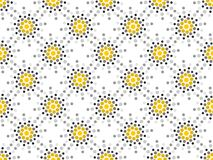 Seamless pattern black and yellow dots. Dotted pop art style. Polka dot background. Vector. Illustration royalty free illustration