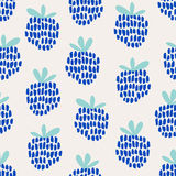 Seamless pattern with blackberries. Vector illustration Stock Images