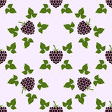 Seamless pattern with blackberry motive Stock Images