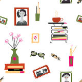 Seamless pattern for blog of writer or photographer Stock Photography