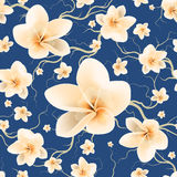Seamless Pattern Bloom Flowers Royalty Free Stock Photo