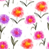 Seamless pattern with blooming flowers Stock Photos