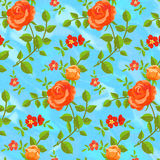 Seamless pattern of blooming roses Stock Images