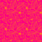 Seamless pattern with blossoming cherry branches. Stock Image