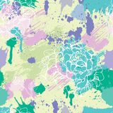 Seamless pattern with blots, ink splashes Royalty Free Stock Photos