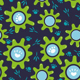 Seamless pattern. the blots and tracks in cartoon style Royalty Free Stock Photo