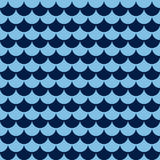 Seamless pattern from the blue alternating circles. Royalty Free Stock Photography