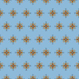 Seamless pattern on a blue background Stock Images