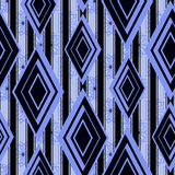 Seamless pattern blue, black diamonds texture light blue background. Stock Photo