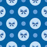 Seamless pattern with blue bows Stock Images