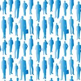 Seamless pattern blue business people. Vector vector illustration