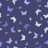 Seamless Pattern, Blue Butterfly Royalty Free Stock Images